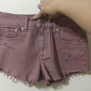 American Eagle Outfitters Dark Blush Denim Shorts